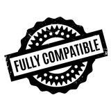 Fully Compatible rubber stamp Stock Photo