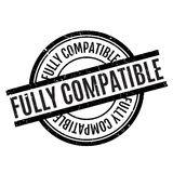 Fully Compatible rubber stamp Royalty Free Stock Photo