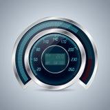 Fully digital speedometer rev counter Stock Photo