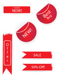 Fully editable Sticker Sets. Vector  in white background Stock Photos