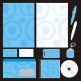 Fully editable vector business templates set ready Royalty Free Stock Images