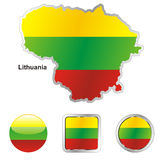 Fully editable vector flag of lithuania Royalty Free Stock Photo