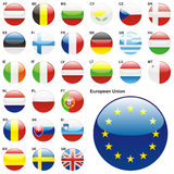 Fully editable vector illustration of flags of EU Stock Photos