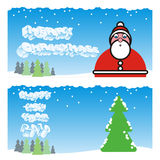 Fully editable vector winter holidays cards with d Stock Photography