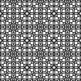 Fully filled ethic flower pattern background in black n white. Seamless vector background illustrations for use in web backgrounds , art , fabrics , styling Royalty Free Stock Image