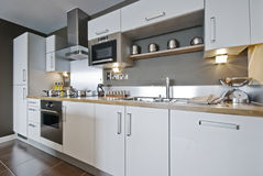 Free Fully Fitted Modern Kitchen Royalty Free Stock Image - 10488606