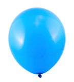 Fully inflated air balloon isolated. Fully inflated blue air balloon isolated over white background Stock Photography