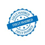 Fully insured stamp illustration. Fully insured blue stamp seal illustration design Royalty Free Stock Photography