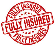 Fully insured red stamp Stock Image