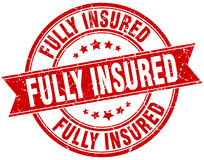Fully insured stamp Stock Photography