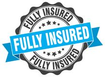Free Fully Insured Seal. Stamp Stock Photos - 120312533