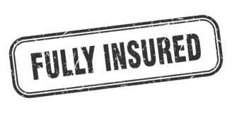 Free Fully Insured Stamp. Fully Insured Square Grunge Sign Stock Image - 170294451