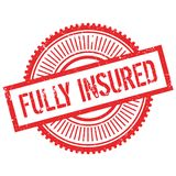 Fully insured stamp Stock Image