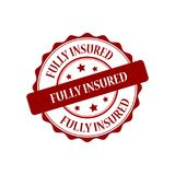 Fully insured stamp illustration. Fully insured red stamp seal stamp illustration Stock Images