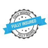 Fully insured stamp illustration. Fully insured stamp seal illustration design Stock Photography