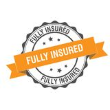 Fully insured stamp illustration. Fully insured stamp seal illustration design Royalty Free Stock Image