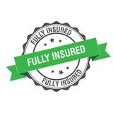 Fully insured stamp illustration. Fully insured stamp seal illustration design Stock Images