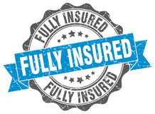 Fully insured stamp. Sign. seal Royalty Free Stock Images