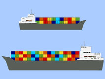 Fully ladened container ships Royalty Free Stock Image