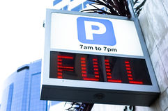 Fully Parked Royalty Free Stock Photo