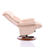 Fully reclined suede chair Royalty Free Stock Images