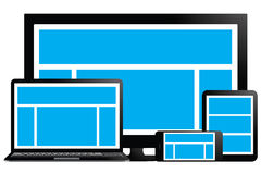 Fully responsive design. Across multiple platforms royalty free illustration