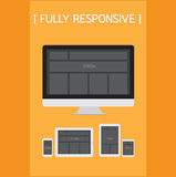 Fully Responsive Design. Royalty Free Stock Photos