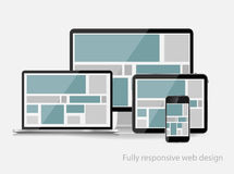 Fully Responsive Web Design Concept Vector Illustration Royalty Free Stock Images