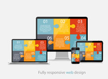 Fully Responsive Web Design Concept Vector Illustration Royalty Free Stock Photo