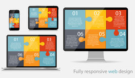 Fully Responsive Web Design Concept Vector Illustration Stock Photo