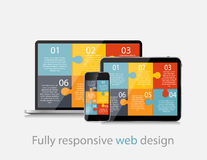 Fully Responsive Web Design Concept Vector Stock Photography