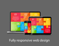 Fully Responsive Web Design Concept Vector Stock Image