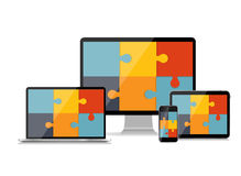 Fully Responsive Web Design Concept Vector Royalty Free Stock Photo
