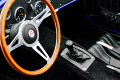 Fully restored  Shelby Cobra. Fully restored blue with white racing stripes Shelby Cobra Stock Images
