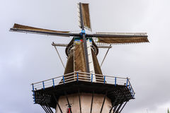 Fully Restored Windmill in Holland Royalty Free Stock Photo
