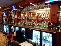 Fully stocked bar Stock Photo