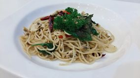 Delicious  spaghetti royalty free stock photography