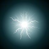 Fulmine blu dal centro Immagini Stock Libere da Diritti