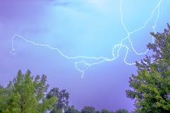 Fulmine del cielo blu Fotografia Stock