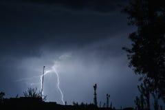 Fulmine di forcella Fotografia Stock