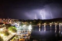 Fulmine di Lake Havasu Immagine Stock