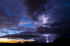 Fulmine di Tucson Fotografie Stock Libere da Diritti