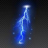 Fulmine luminoso su fondo trasparente Flash elettrico Bullone e fulmine di tuono Illustrazione di vettore illustrazione vettoriale