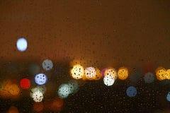 Fulmine piovoso di notte della Cina Pechino Fotografia Stock