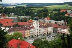 Fulnek miasto w Moravia Zdjęcie Royalty Free