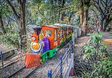 Fulrani, o trem do brinquedo no parque de Peshwe fotografia de stock