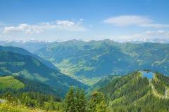 从Fulseck的方式到Dorfgastein,奥地利 图库摄影