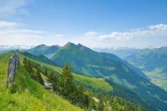 从Fulseck的方式到Dorfgastein,奥地利 免版税库存照片