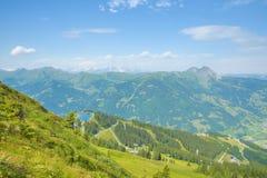 从Fulseck的方式到Dorfgastein,奥地利 库存图片