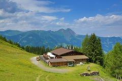 从Fulseck的方式到Dorfgastein,奥地利 免版税库存图片